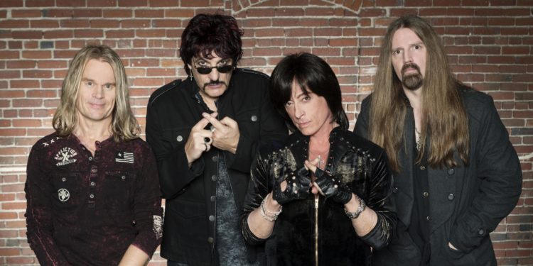 Rated X (Joe Lynn Turner, Carmine Appice, Tony Franklin, Carl Cochran). Photo taken  downtown Los Angeles on 02/25/14.