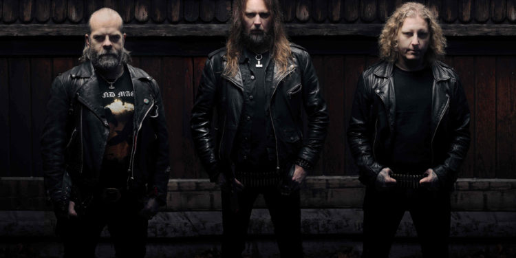 Left to right: JB Christoffersson (Guitars, Vocals) Fox Skinner (Bass) Ludwig Witt (Drums)